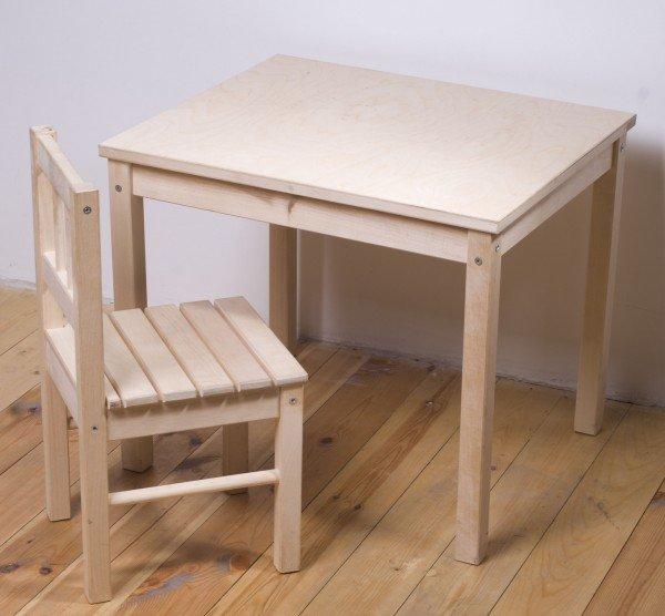 Детский стол из дерева своими руками 74