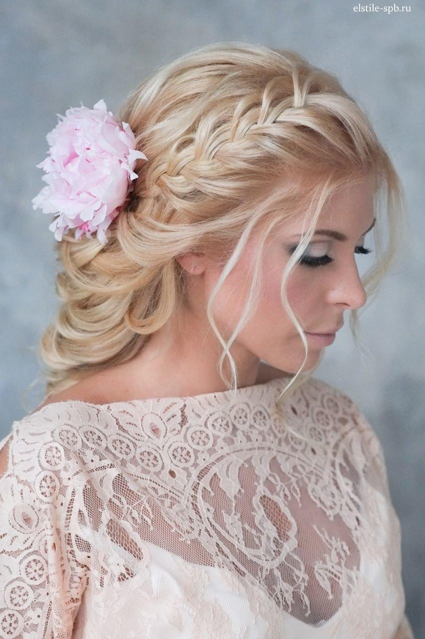 Идеи свадебный прически с косой