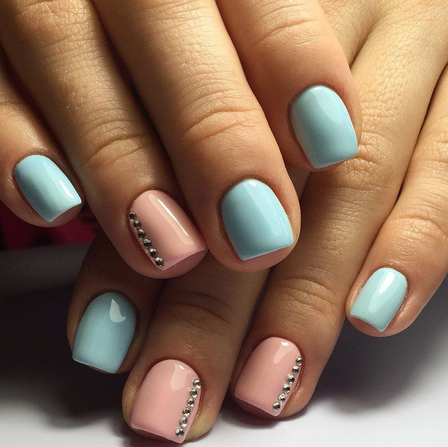 Варианты маникюра гель лаком фото на коротких ногтях