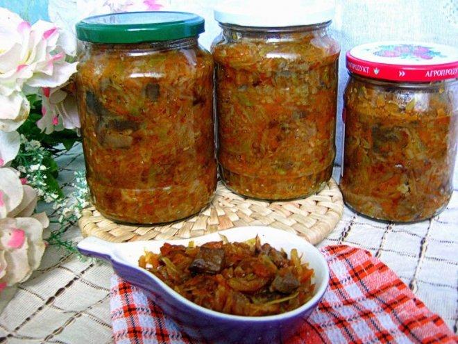 солянка грибная с капустой и помидорами на зиму