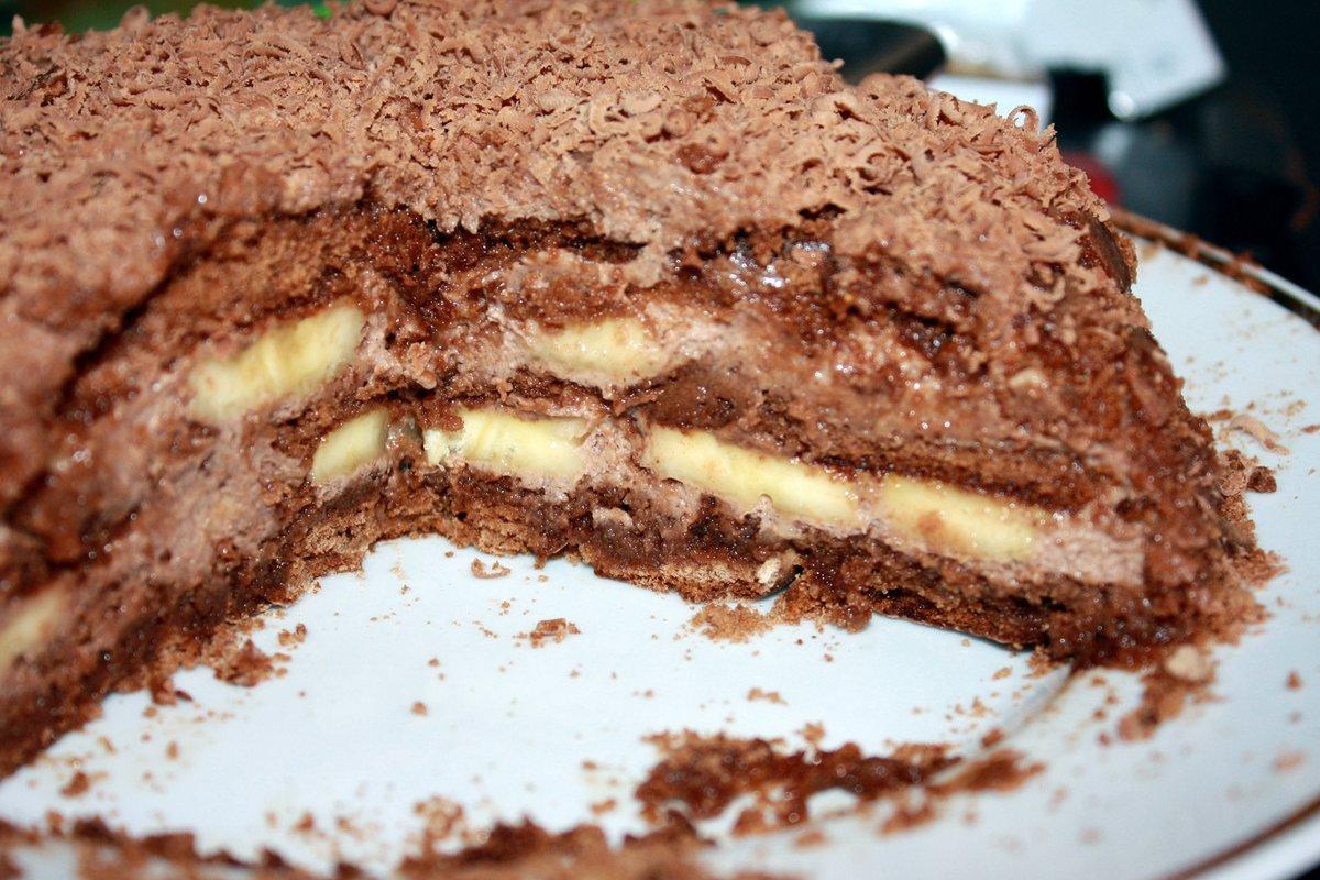 Торт бананово сметанный рецепт