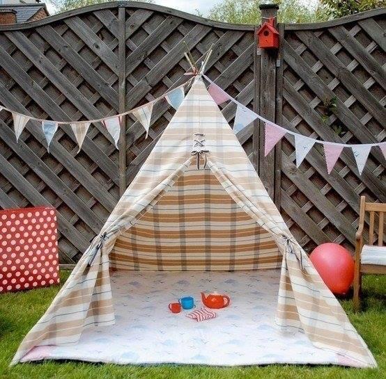 Как сделать палатку на улице своими руками 37