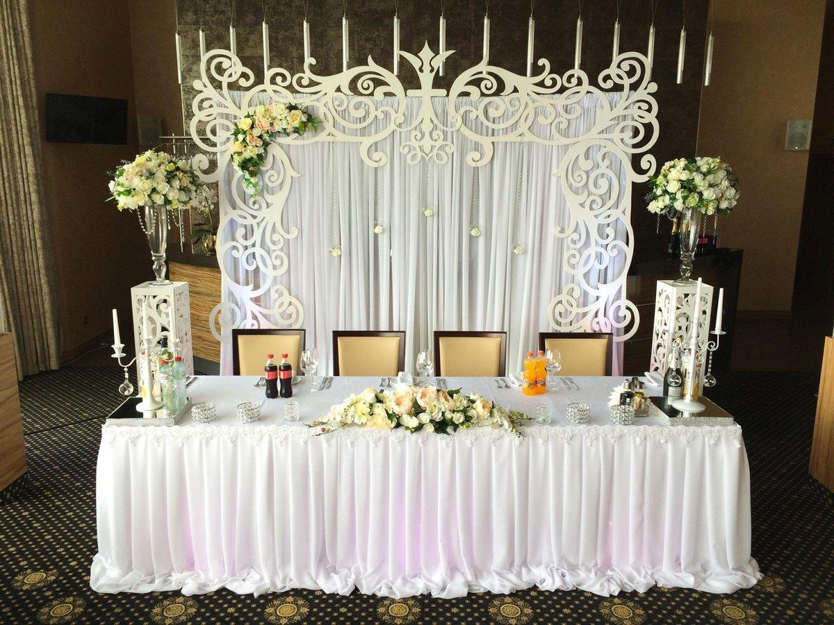 Декор стола молодоженов своими руками
