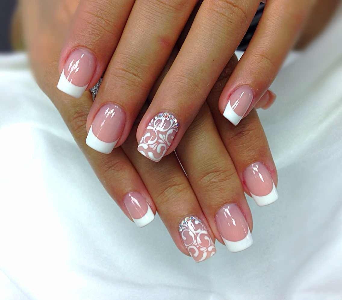 Красивые Розовые Ногти С Рисунком