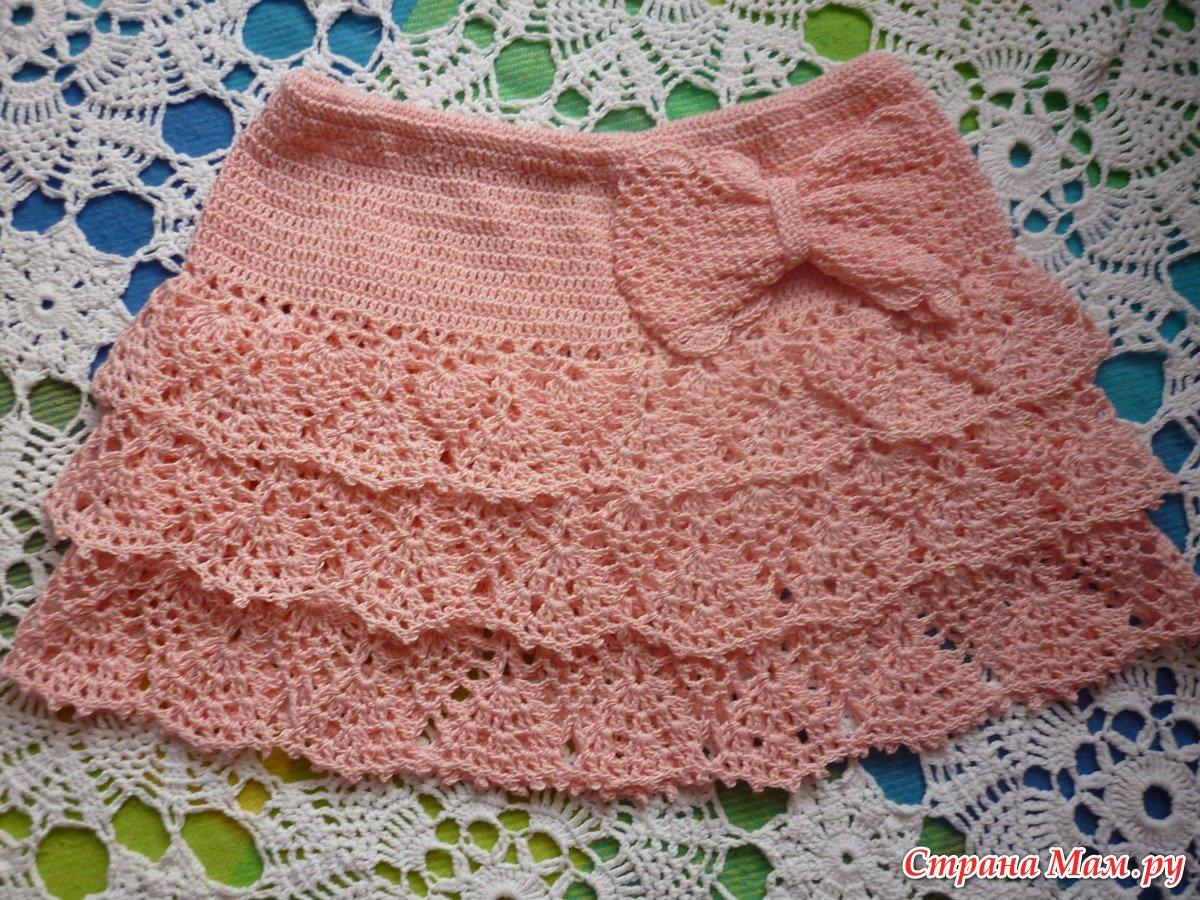Вяжем на спицах плиссированную юбочку для девочки 3-5 лет 67