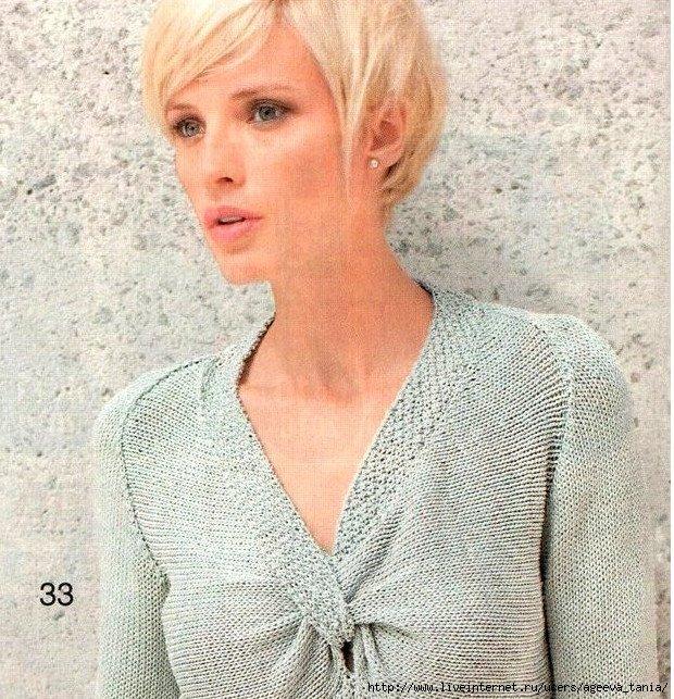 Вязание женских пуловеров спицами из тонких ниток 38
