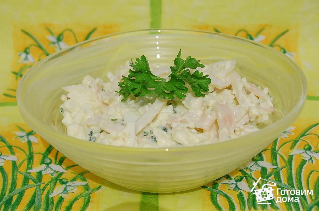 Салат из кальмаров и плавленного сыра рецепт очень вкусный 22