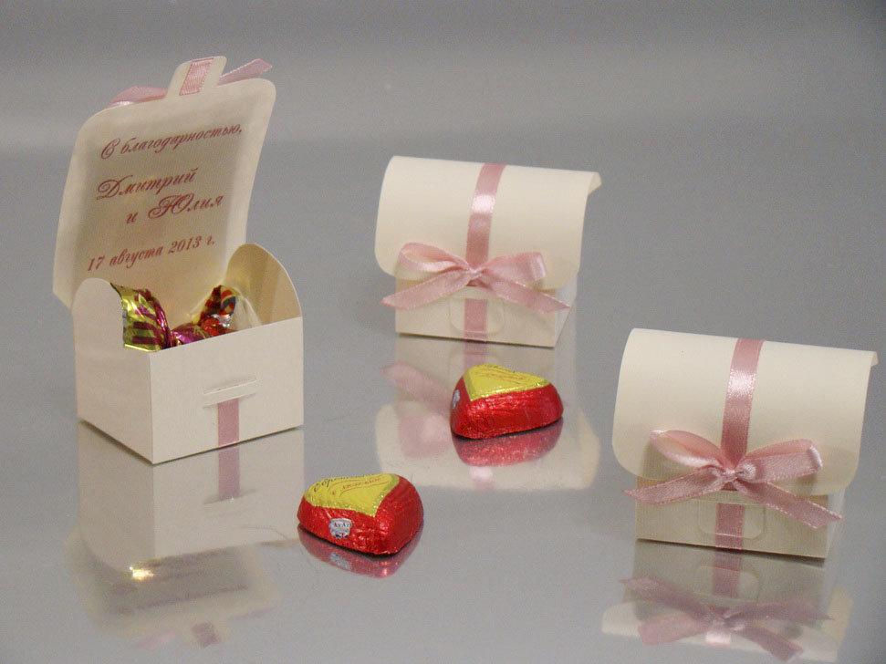Упаковка для подарка на свадьбу гостям 3