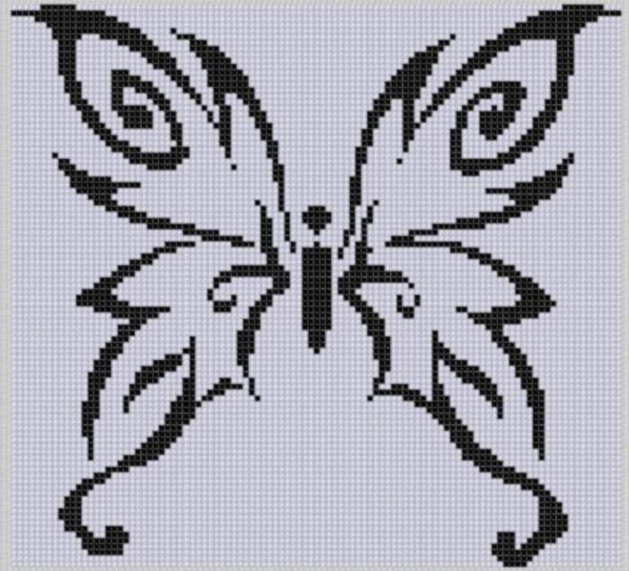 Маленькие вышивки крестом схемы черно белые 2