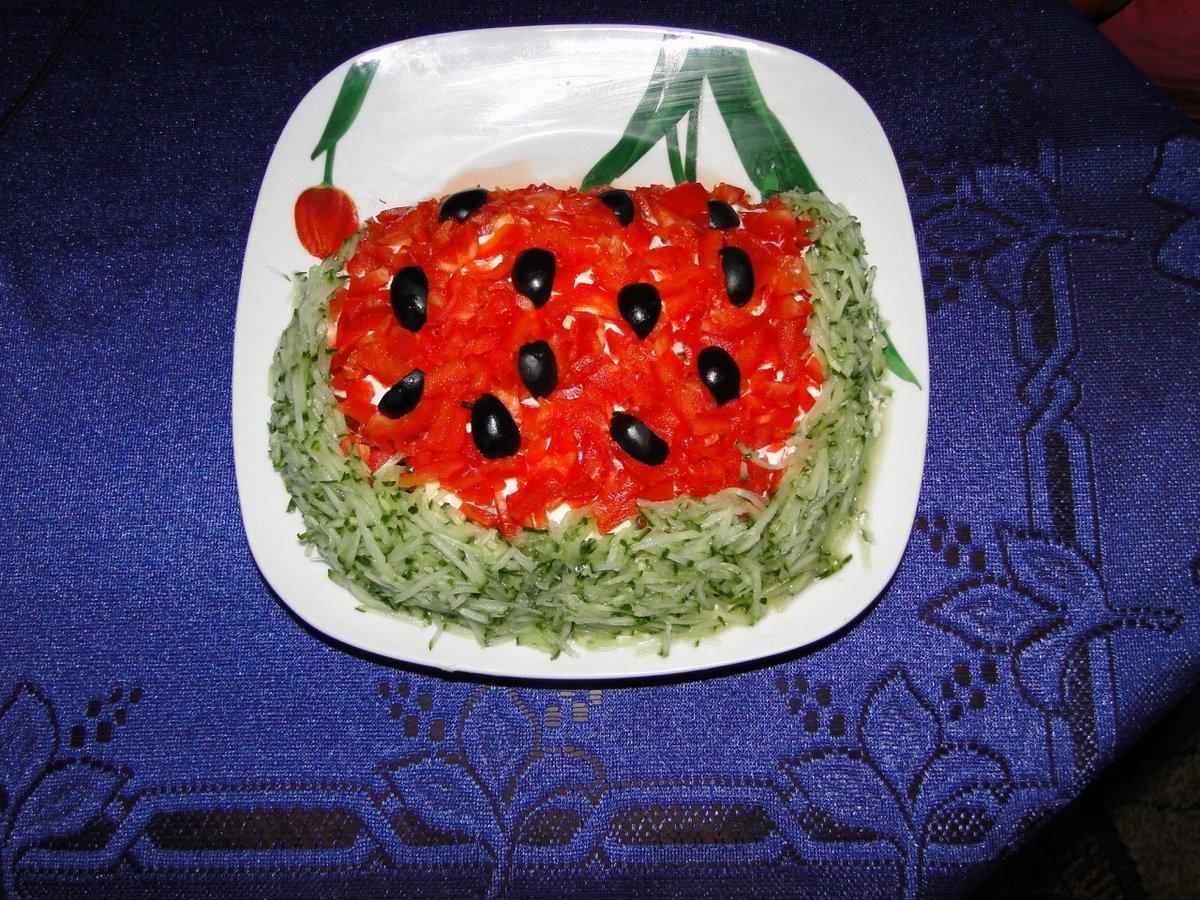 Салат арбуз рецепты пошагово