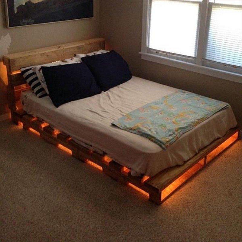 Кровать на поддонах своими руками 45