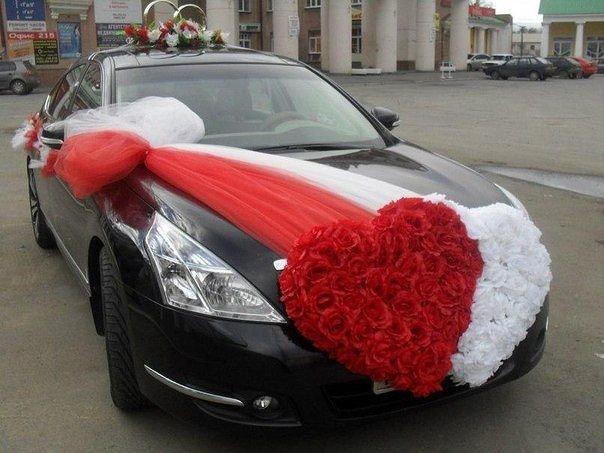 Своими руками украшение свадебного авто