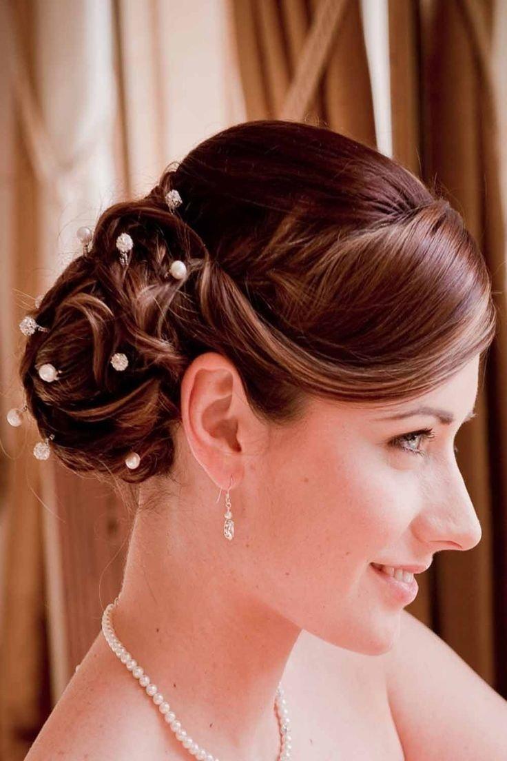 Свадебные причёски на среднюю длину фото