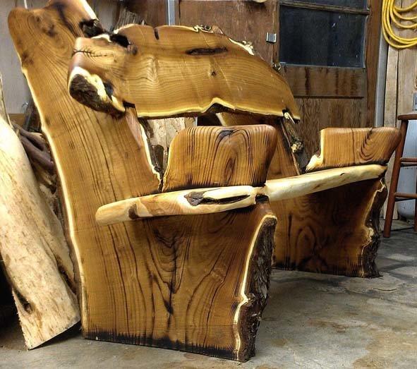 Оригинальная мебель из дерева своими руками фото 44