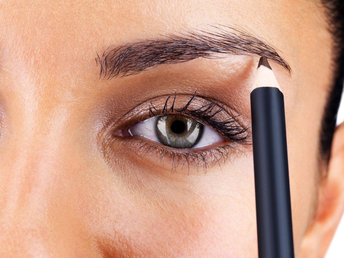 Фото брови с карандашом как делать