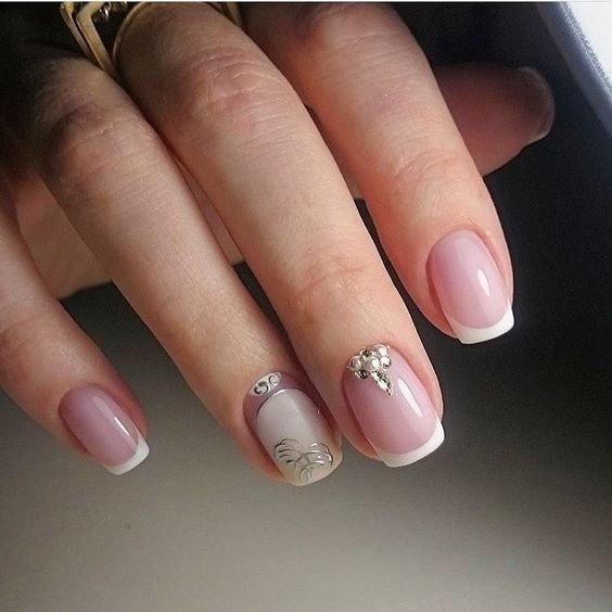 Маникюр французский на короткие ногти дизайн 2018