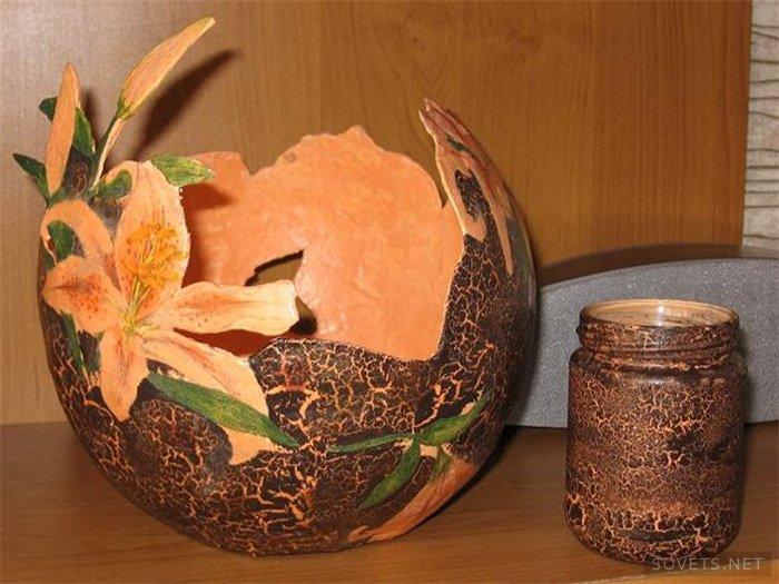Поделка в виде вазы 212