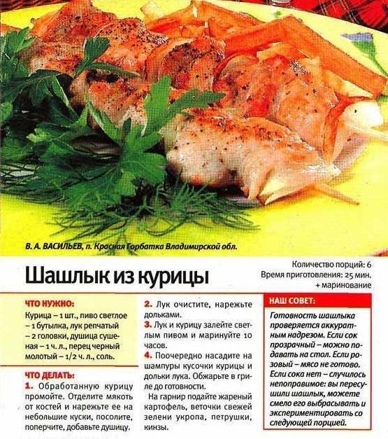 Рецепт маринования шашлыка из курицы