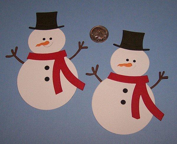 Снеговик из бумаги своими руками на новый