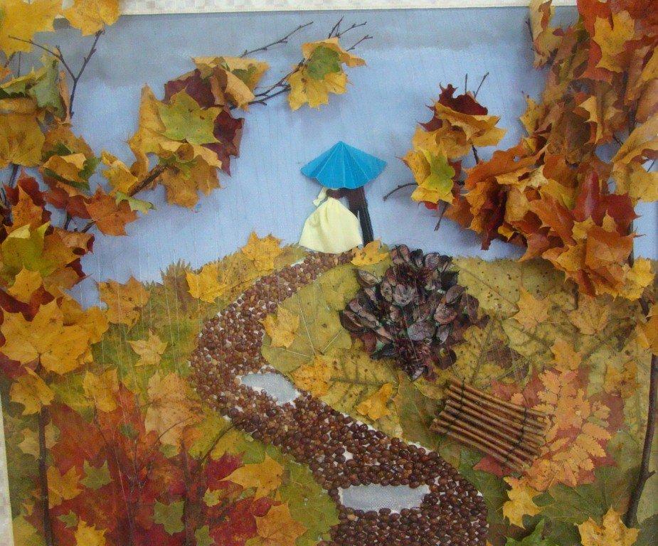 Картина детская осень своими руками