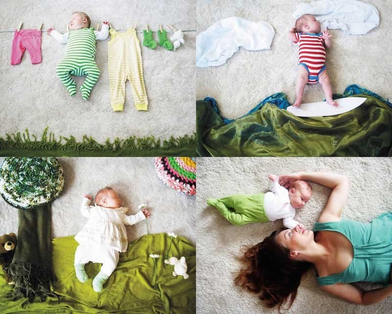 Фото новорожденных дома идеи