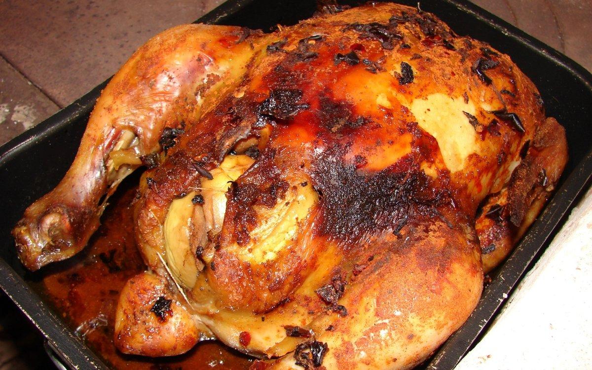 Пошаговый фото рецепт целой курицы в духовке