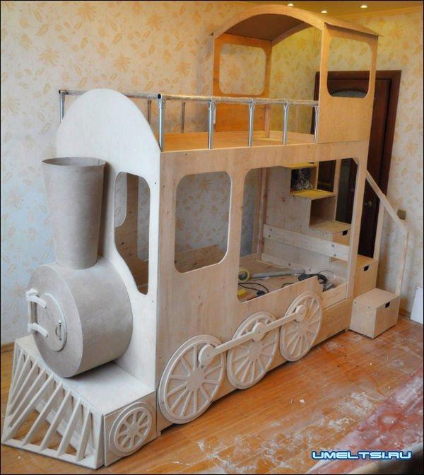 Двухъярусная кровать для детей своими руками из фанеры
