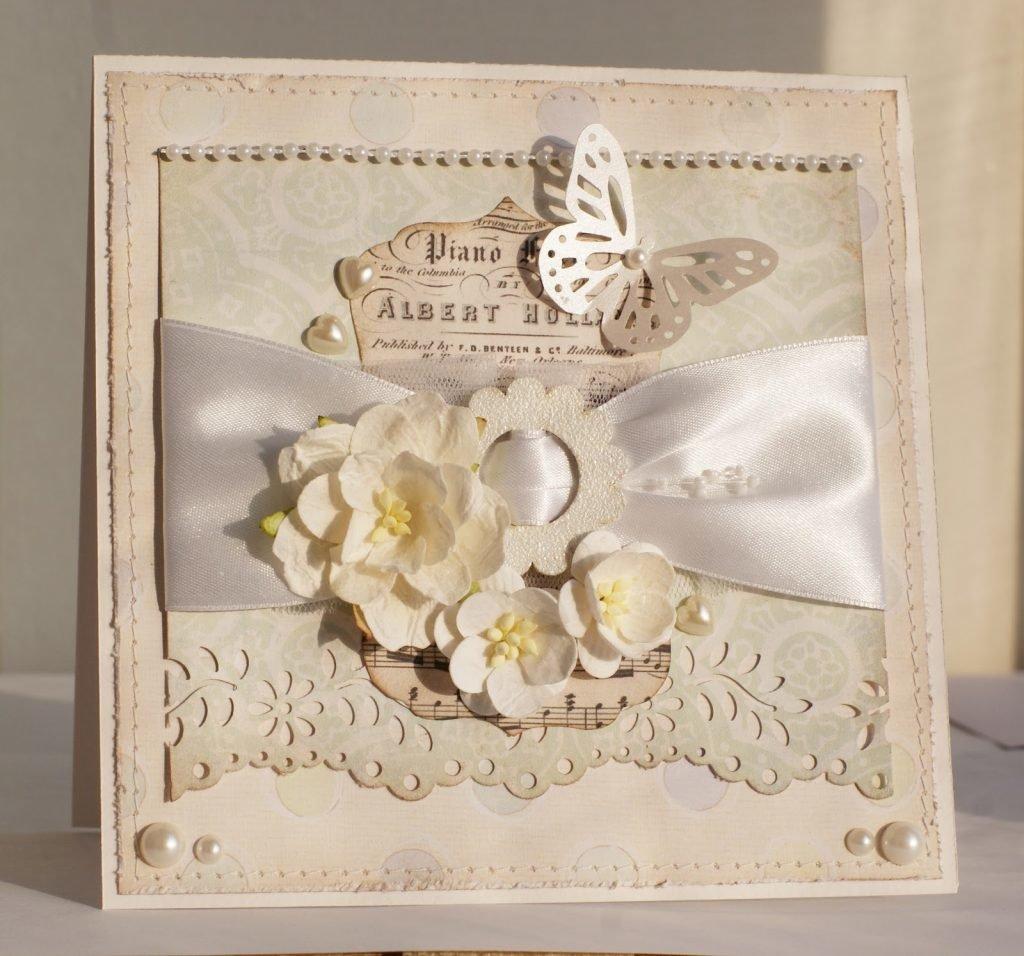 Свадебная открытка своими руками в стиле шебби-шик 48