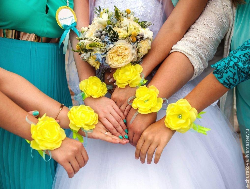 Цветы на руку своими руками для подружек невесты 876