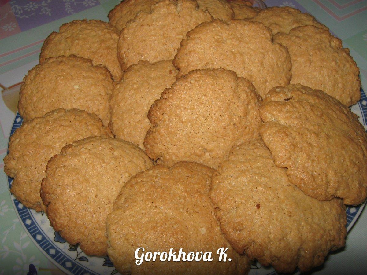 Овсяные печенье для детей рецепт пошагово