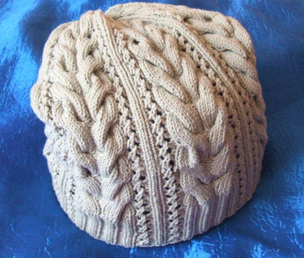 Красивые шапочки вязание спицами 510