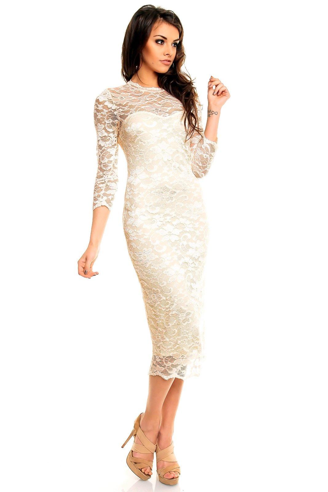Платья кружевные с рукавами
