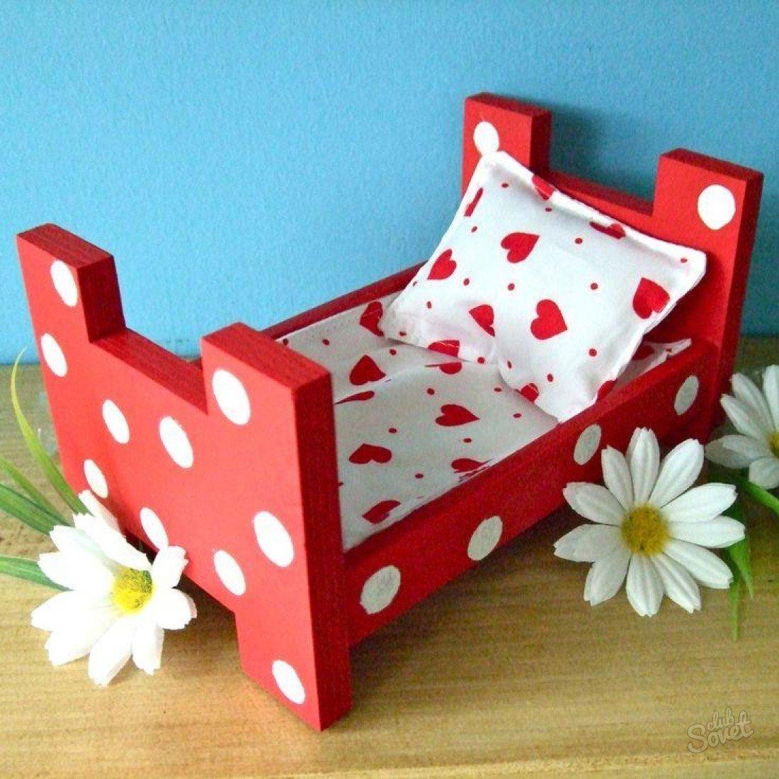 Кроватка для кукол своими руками инструкция