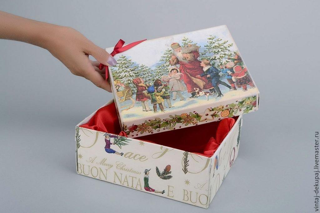 Декупаж коробки салфетками для начинающих пошагово