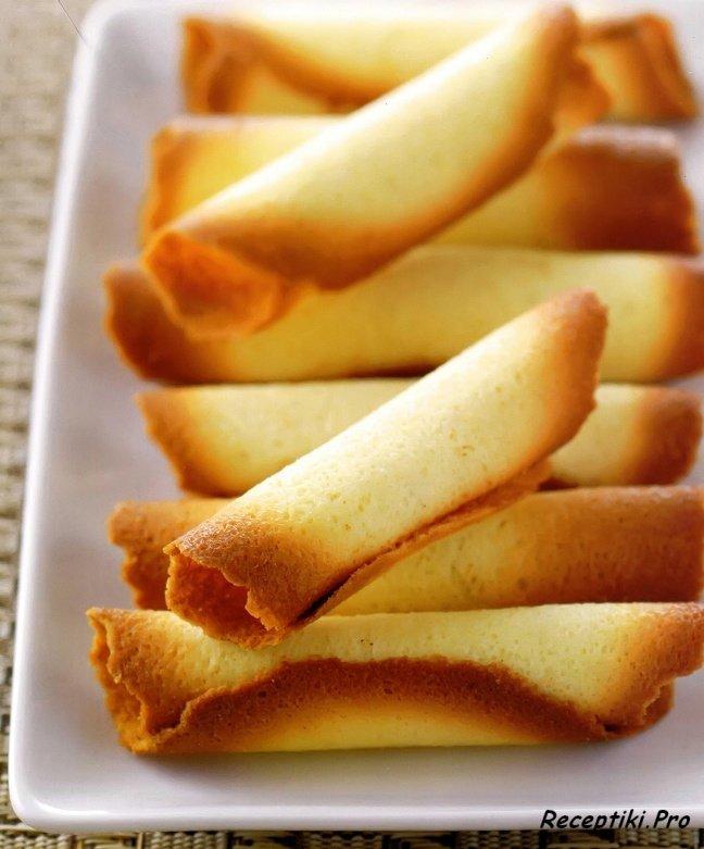Трубочки вафельные на масле рецепт