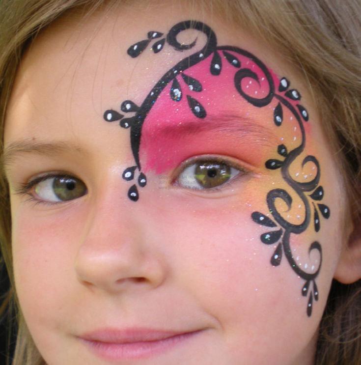 Рисунки на лицо для девочек простые 158