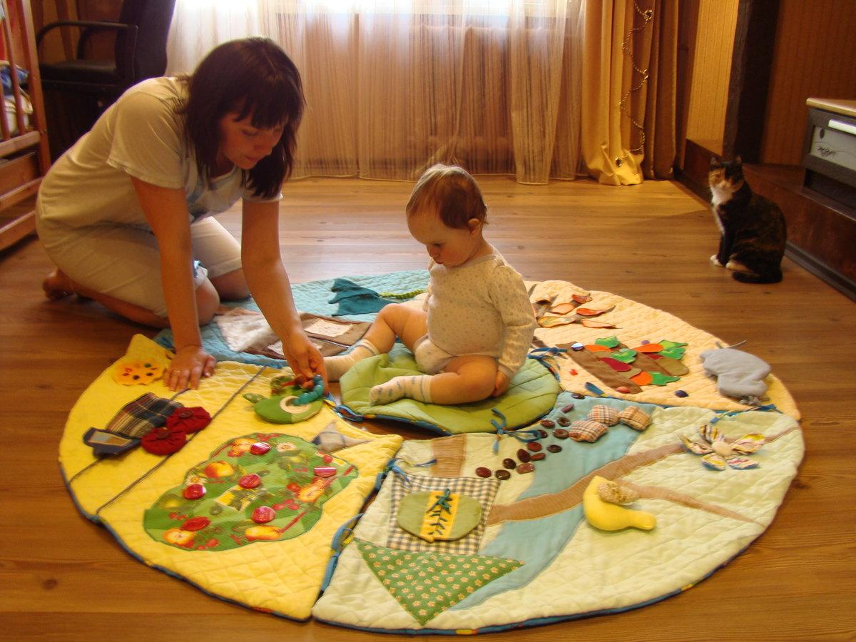 Развивающий коврик своими руками. Мастер класс мягкого 64