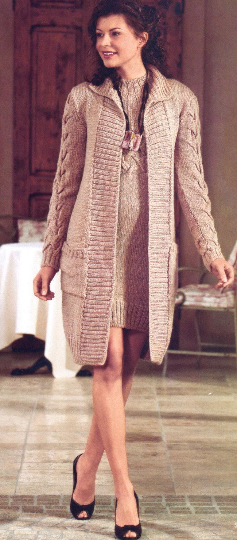 Пальто » Вязание спицами и крючком 48