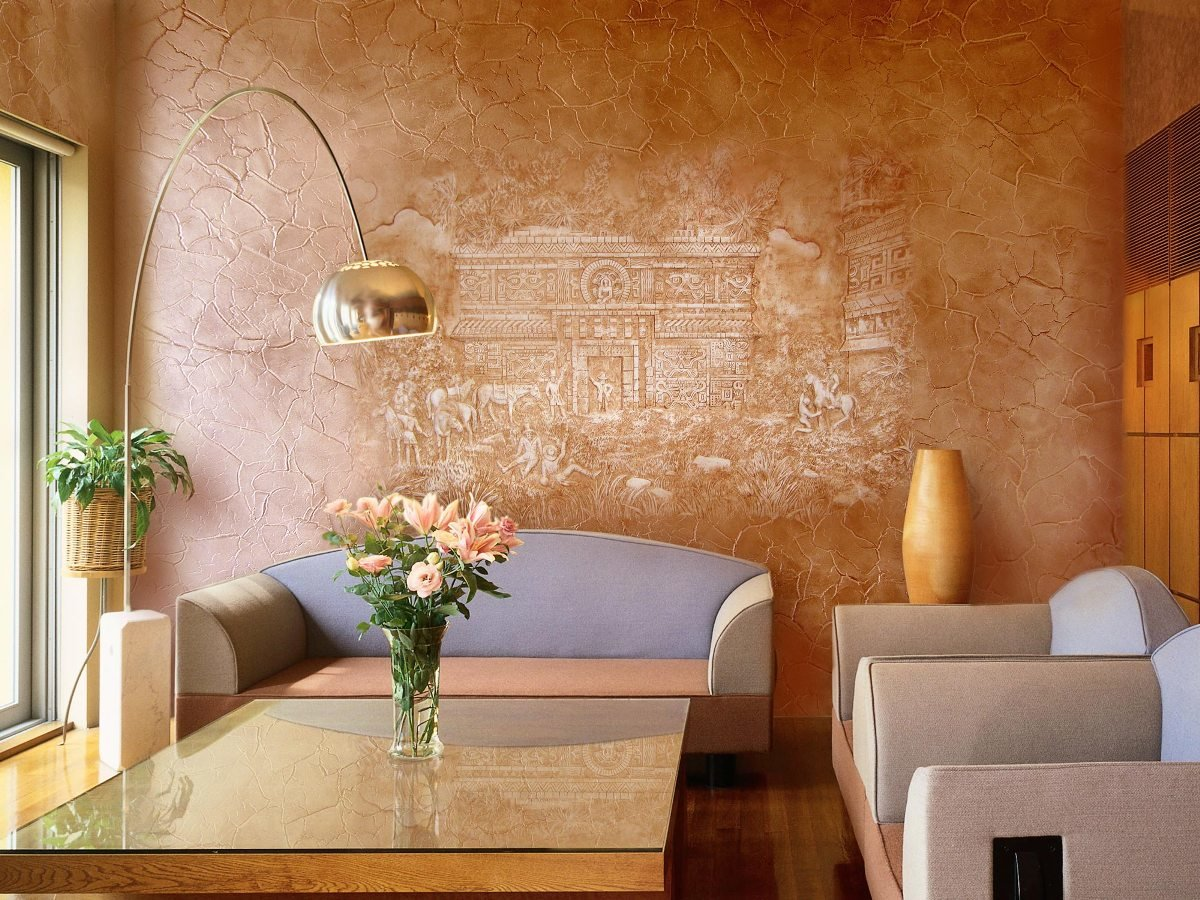 Дизайн стен декоративными валиками
