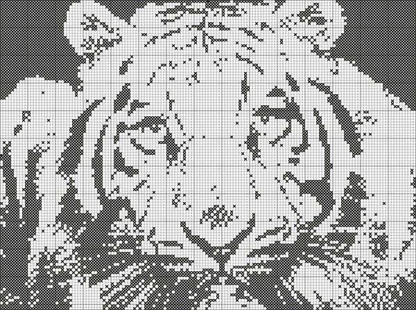 Черно-белые схемы для вышивки крестиком большие 54