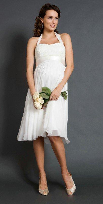 Свадебное платье для беременных буду мамой 51