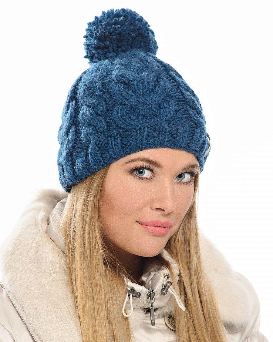 Вязание шапок с крупным узором