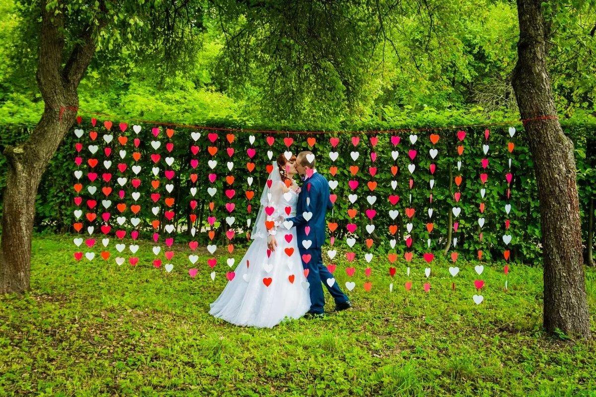 Гирлянда сердечки для свадьбы своими руками 726