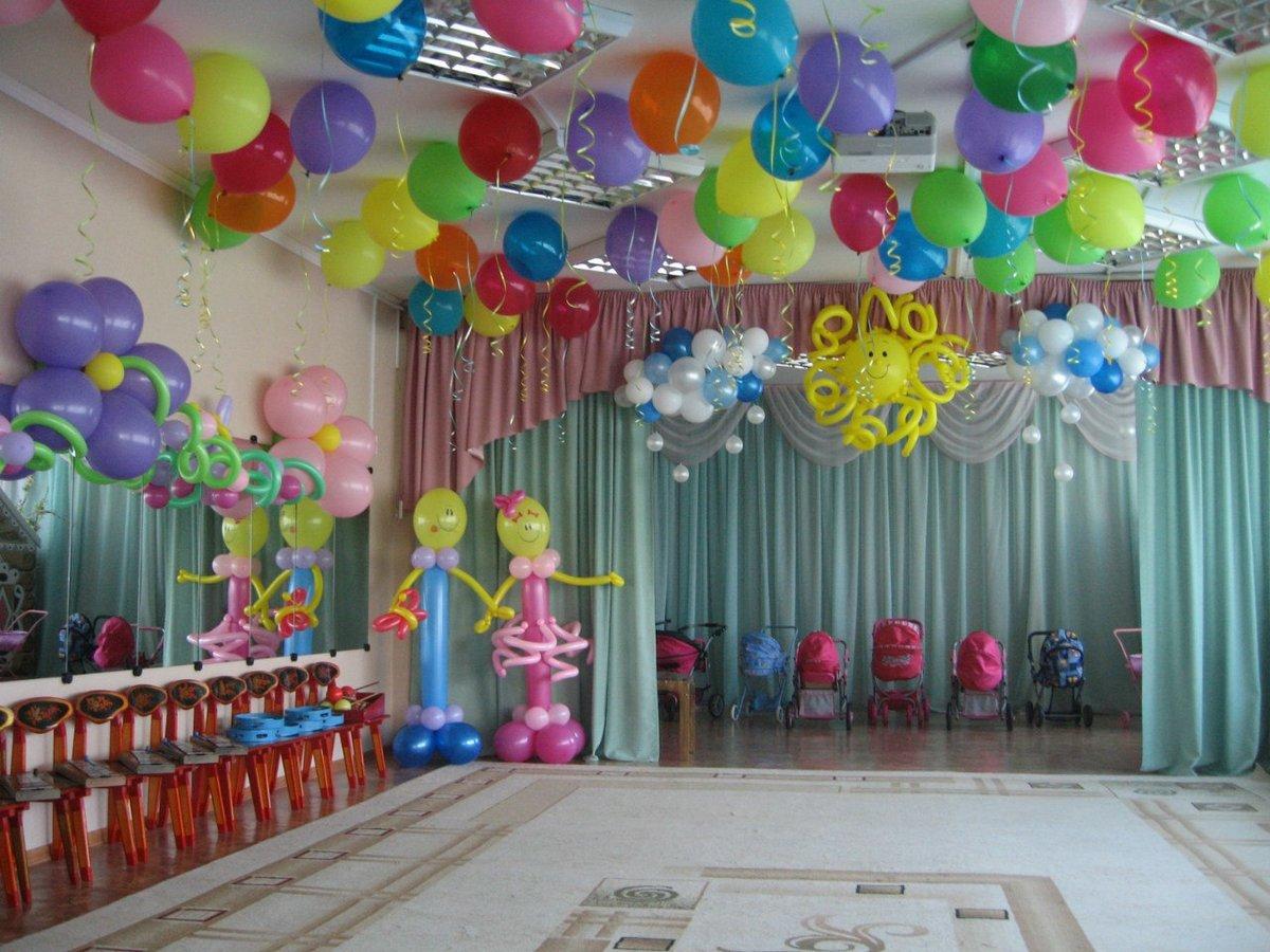 Оформление шарами детский праздник своими руками фото