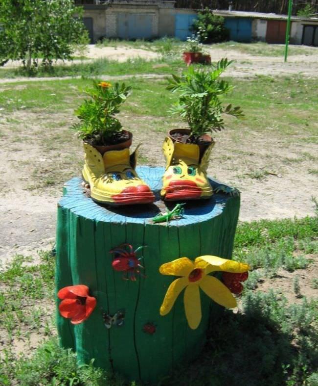 Своими руками для сада и огорода из покрышек 269