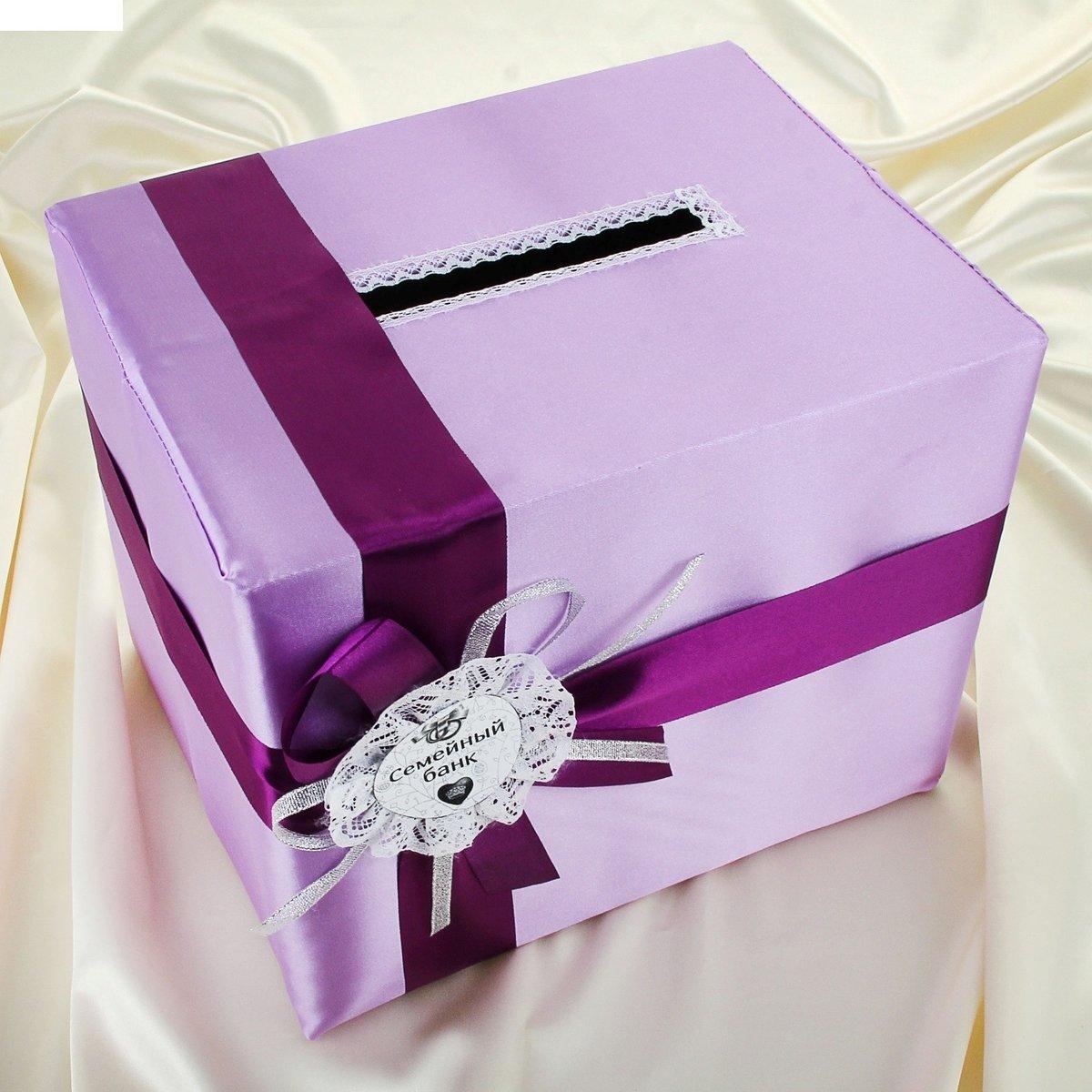 Украсить свадебную коробку для денег своими руками 49