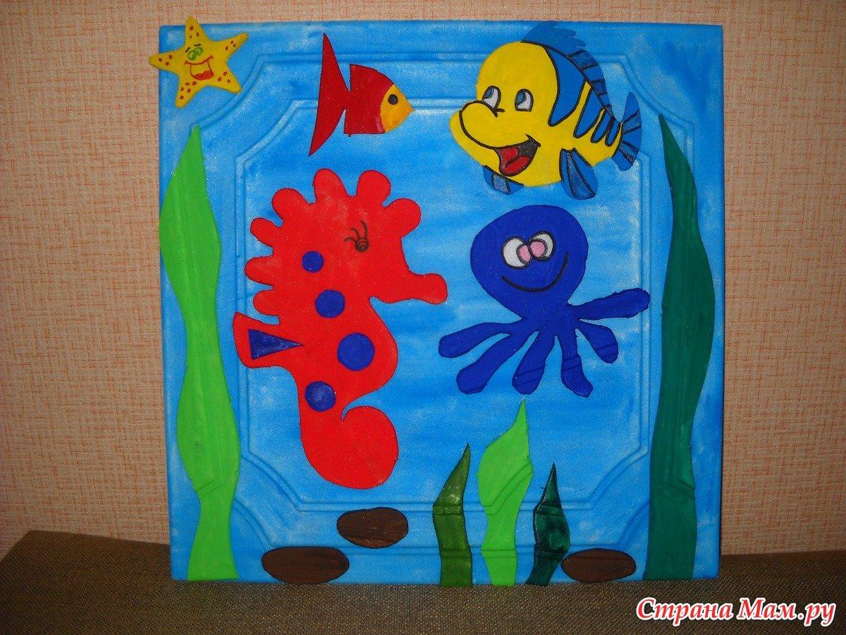 Подводный мир - поделка своими руками из бумаги 77