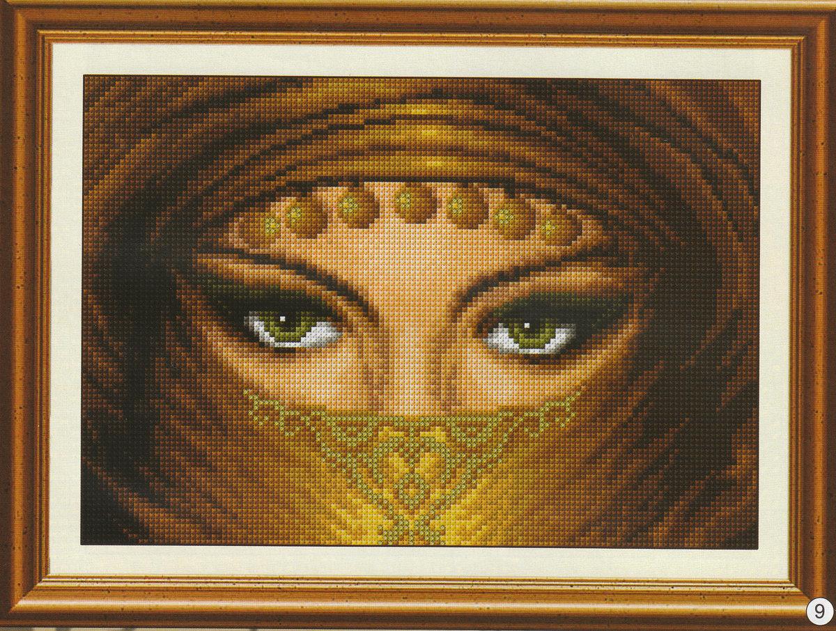 Вышивка восточных глаз