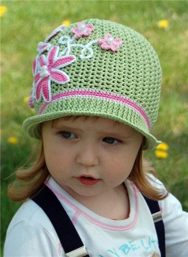 Вязание летние шляпки для девочек 188
