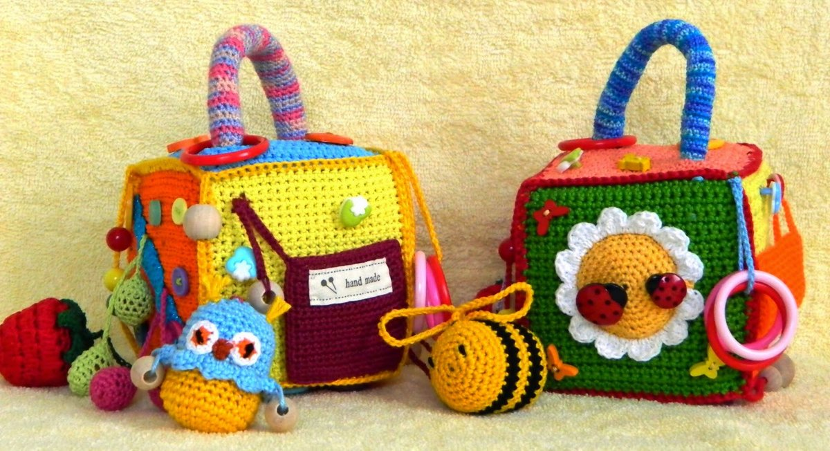 Вязаные игрушки спицами для детей своими руками 34